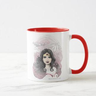 Wonder Woman Eagle and Trees Mug