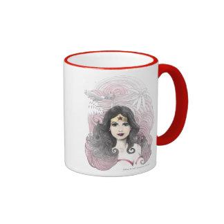 Wonder Woman Eagle and Trees Coffee Mug