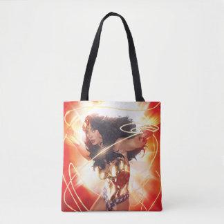 Wonder Woman Encyclopedia Cover Tote Bag