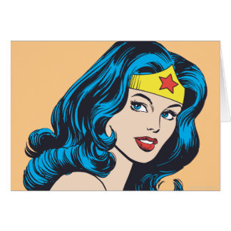 Wonder Woman Face Card