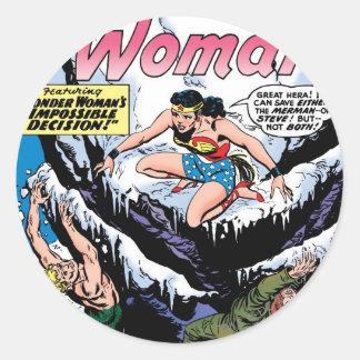 Wonder Woman Featuring Wonder Girl Round Sticker