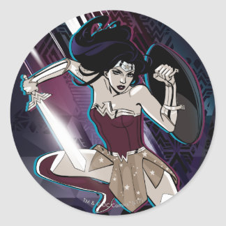 Wonder Woman - Fierce Classic Round Sticker