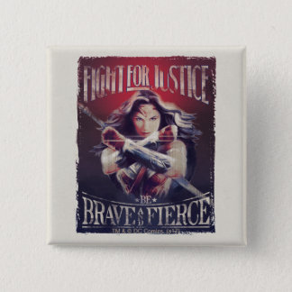 Wonder Woman Fight For Justice 15 Cm Square Badge