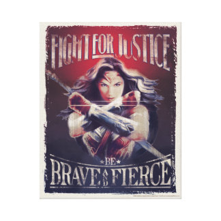 Wonder Woman Fight For Justice Canvas Print