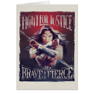 Wonder Woman Fight For Justice Card