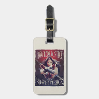 Wonder Woman Fight For Justice Luggage Tag