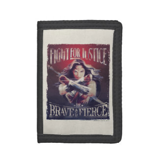Wonder Woman Fight For Justice Tri-fold Wallet