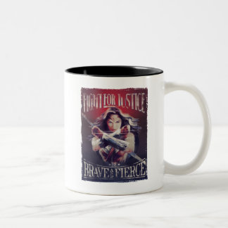 Wonder Woman Fight For Justice Two-Tone Coffee Mug
