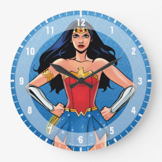 Wonder Woman - Fight For Peace Large Clock