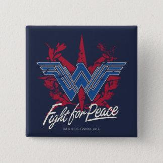 Wonder Woman Fight For Peace Symbol 15 Cm Square Badge