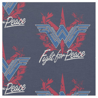 Wonder Woman Fight For Peace Symbol Fabric