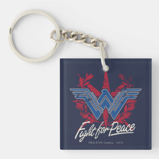 Wonder Woman Fight For Peace Symbol Key Ring