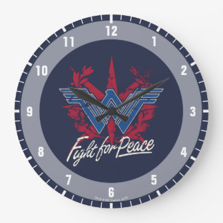 Wonder Woman Fight For Peace Symbol Large Clock