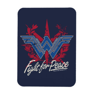 Wonder Woman Fight For Peace Symbol Magnet