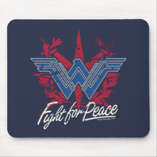 Wonder Woman Fight For Peace Symbol Mouse Pad