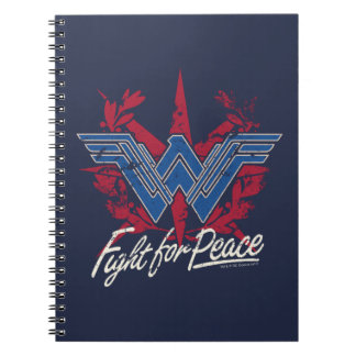 Wonder Woman Fight For Peace Symbol Notebook