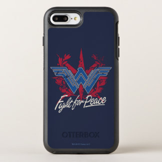 Wonder Woman Fight For Peace Symbol OtterBox Symmetry iPhone 8 Plus/7 Plus Case