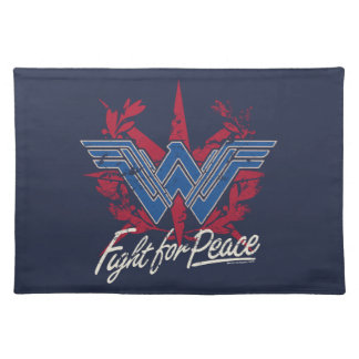Wonder Woman Fight For Peace Symbol Placemat