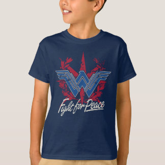Wonder Woman Fight For Peace Symbol T-Shirt