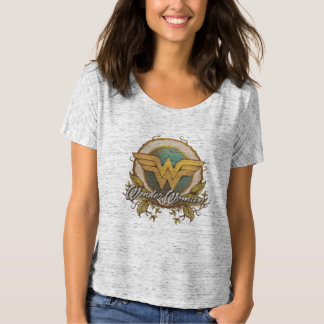 Wonder Woman Foliage Sketch Logo T-Shirt