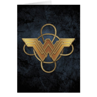 Wonder Woman Gold Symbol Over Lasso Card