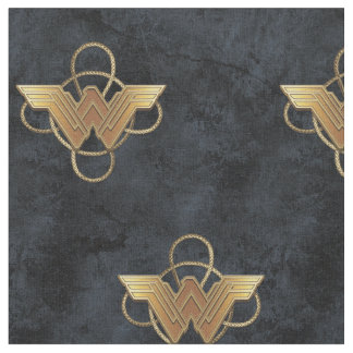 Wonder Woman Gold Symbol Over Lasso Fabric