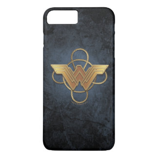 Wonder Woman Gold Symbol Over Lasso iPhone 8 Plus/7 Plus Case