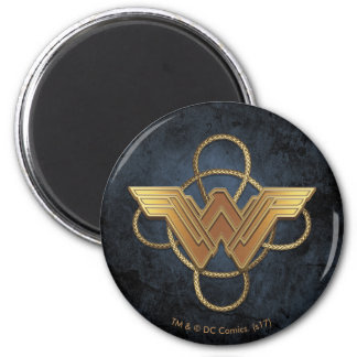 Wonder Woman Gold Symbol Over Lasso Magnet
