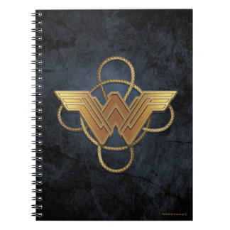 Wonder Woman Gold Symbol Over Lasso Notebook