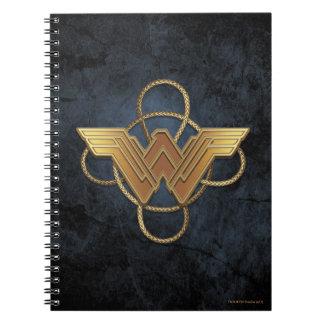 Wonder Woman Gold Symbol Over Lasso Notebooks