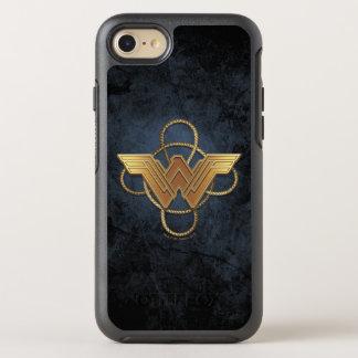 Wonder Woman Gold Symbol Over Lasso OtterBox Symmetry iPhone 8/7 Case