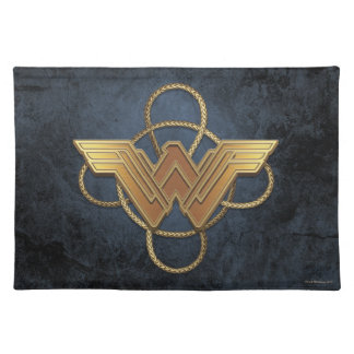 Wonder Woman Gold Symbol Over Lasso Placemat