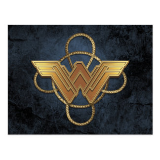 Wonder Woman Gold Symbol Over Lasso Postcard