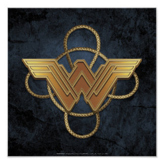 Wonder Woman Gold Symbol Over Lasso Poster