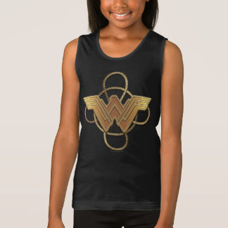 Wonder Woman Gold Symbol Over Lasso Singlet
