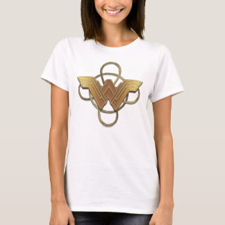 Wonder Woman Gold Symbol Over Lasso T-Shirt