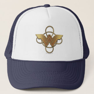 Wonder Woman Gold Symbol Over Lasso Trucker Hat
