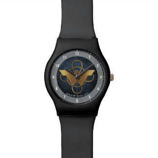 Wonder Woman Gold Symbol Over Lasso Watch