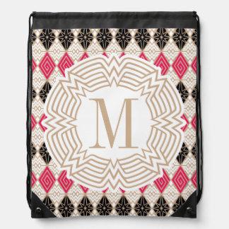 Wonder Woman Greek Pattern Drawstring Bag