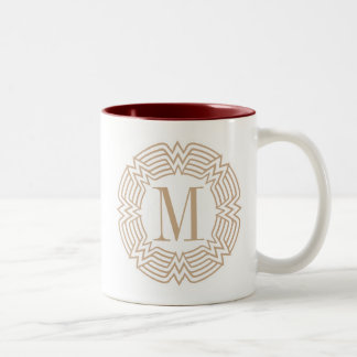 Wonder Woman Greek Pattern Two-Tone Coffee Mug