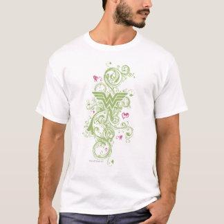 Wonder Woman Green Swirls Logo T-Shirt