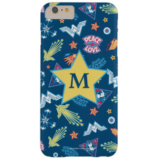Wonder Woman Icons & Phrases Pattern | Monogram Barely There iPhone 6 Plus Case
