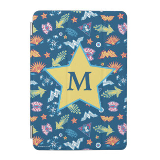 Wonder Woman Icons & Phrases Pattern | Monogram iPad Mini Cover