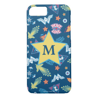 Wonder Woman Icons & Phrases Pattern | Monogram iPhone 8/7 Case