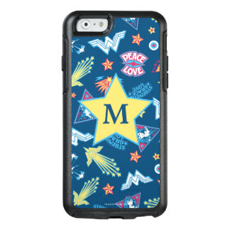 Wonder Woman Icons & Phrases Pattern | Monogram OtterBox iPhone 6/6s Case