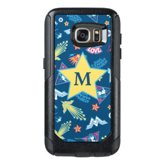 Wonder Woman Icons & Phrases Pattern | Monogram OtterBox Samsung Galaxy S7 Case