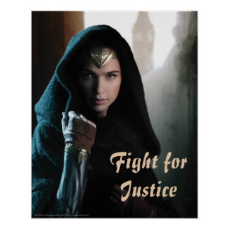 Wonder Woman in Cloak Poster