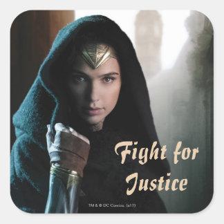 Wonder Woman in Cloak Square Sticker