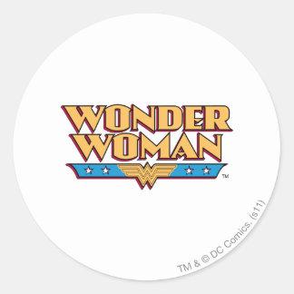 Wonder Woman Logo 2 Classic Round Sticker