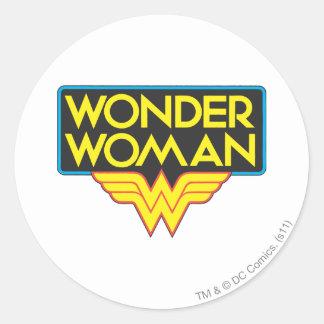 Wonder Woman Logo 3 Classic Round Sticker